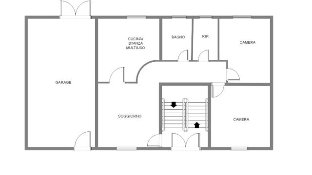 Casa Certaldo - Piantina piano terra