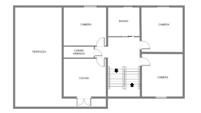 Casa Certaldo - Piantina primo piano